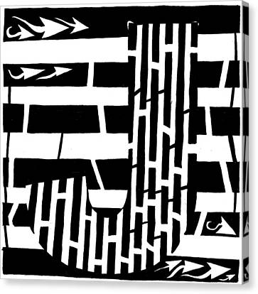 J Maze Canvas Print by Yonatan Frimer Maze Artist