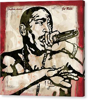 Ja Rule Pop Stylised Art Sketch Poster Canvas Print by Kim Wang