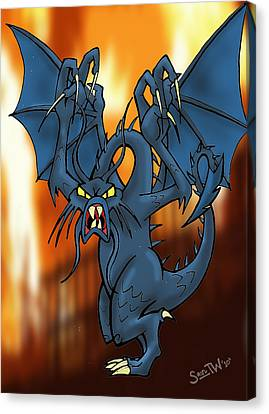 Jabberwock Canvas Print by Sean Williamson