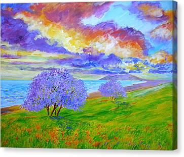 Jacaranda Maui Canvas Print by Tamara Tavernier