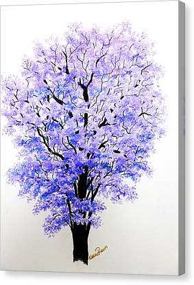 Jacaranda Time Canvas Print by Karin  Dawn Kelshall- Best