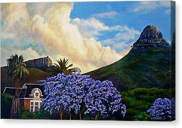 Jacaranda Under Lion Canvas Print by Michael Durst
