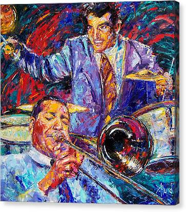 Jack And Gene Canvas Print by Debra Hurd