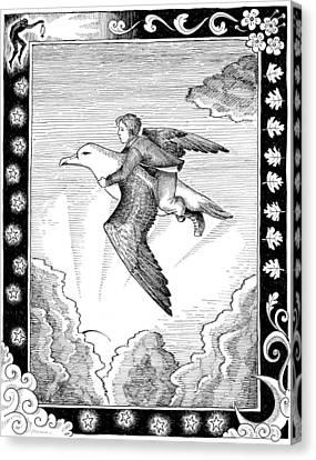 Jack And The Albatross Canvas Print by Maria Volkova