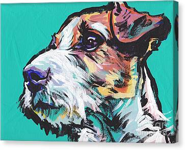 Jack Be Nimble  Jack Russell Terrier Canvas Print by Lea S