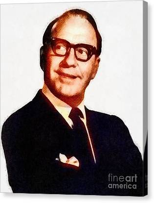 Jack Benny, Comedy Legend By John Springfield Canvas Print by John Springfield