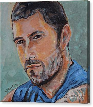 Jack From Lost Canvas Print by Jeanne Forsythe