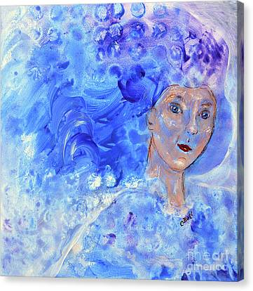 Canvas Print featuring the painting Jack Frost's Girl by Claire Bull