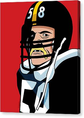 Hall Of Fame Canvas Print - Jack Lambert by Ron Magnes