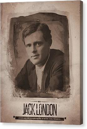 Jack London Canvas Print by Afterdarkness