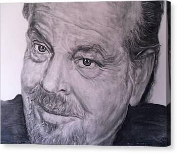 Jack Nicholson Canvas Print by Adrienne Martino