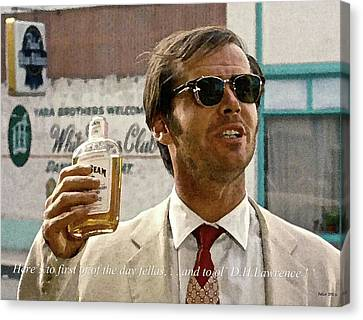 Jack Nicholson, Here's To First Of The Day Fellas, And To Ol D. H. Lawrence . ' Canvas Print by Thomas Pollart
