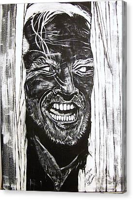 Horrible Canvas Print - Jack Nicholson...here's Johnny by Cynthia Farmer