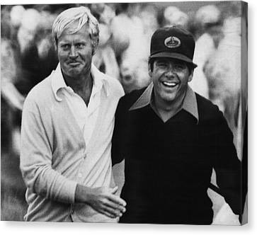 Jack Nicklaus, Lee Trevino, At The U.s Canvas Print by Everett