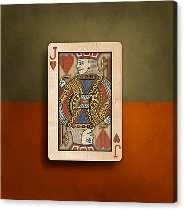 Jack Of Hearts In Wood Canvas Print by YoPedro
