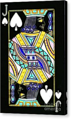 Jack Of Spades - V2 Canvas Print by Wingsdomain Art and Photography