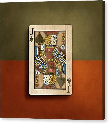 Jack Of Spades In Wood Canvas Print by YoPedro