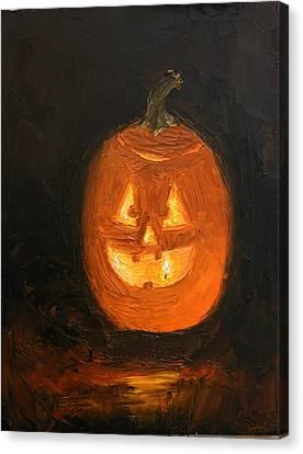 Jack O'lantern Canvas Print by Heather Olsen