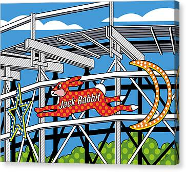 Roller Coaster Canvas Print - Jack Rabbit by Ron Magnes