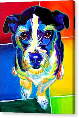 Jack Russell - Pistol Pete Canvas Print by Alicia VanNoy Call