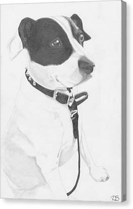 Jack Russell Cross Canvas Print