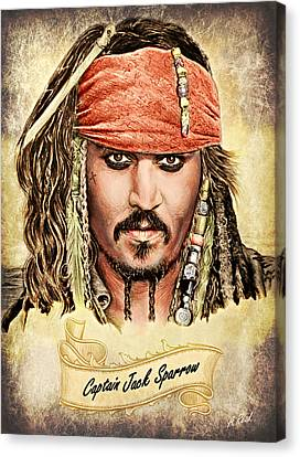 Jack Sparrow Colour 1 Canvas Print by Andrew Read