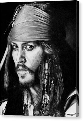 Jack Sparrow Canvas Print by Rick Fortson