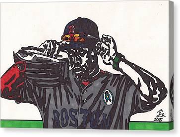 Boston Red Sox Canvas Print - Jackie Bradley Jr by Jeremiah Colley
