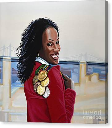Jackie Joyner Kersee Canvas Print by Paul Meijering