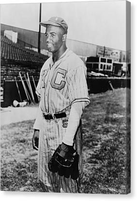 Jackie Robinson 1919-1972 In Kansas Canvas Print by Everett