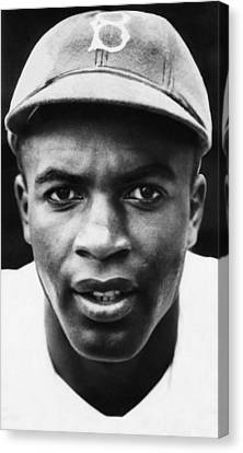 Brooklyn Dodgers Canvas Print - Jackie Robinson, Brooklyn Dodgers, 1947 by Everett