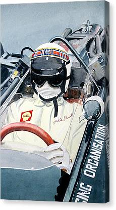 Jackie Stewart Brm Canvas Print