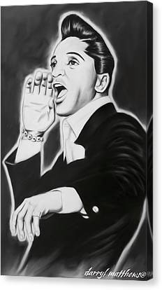 Canvas Print featuring the painting Jackie Wilson by Darryl Matthews