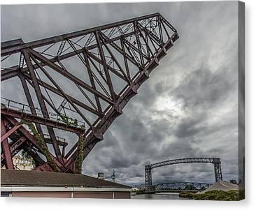 Jackknife Bridge To The Clouds Canvas Print