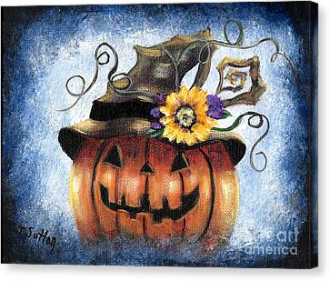 Jack'olantern With Crooked Hat Canvas Print