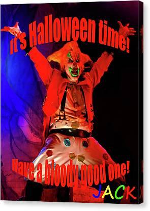 Jacks Halloween Card Canvas Print by David Lee Thompson