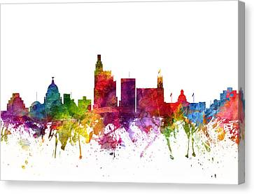 Jackson Cityscape 06 Canvas Print by Aged Pixel