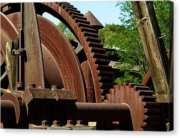 Jackson Gears 2 Canvas Print by Nancy Manning