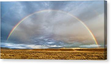 Jackson Hole Rainbow Canvas Print by Sandra Bronstein