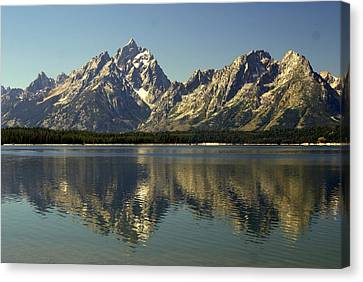 Jackson Lake 2 Canvas Print by Marty Koch