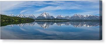Moran Canvas Print - Jackson Lake Panorama by Darren  White
