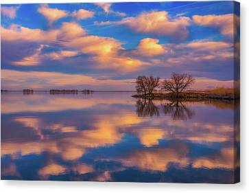Canvas Print featuring the photograph Jackson Lake Sunset by Darren White