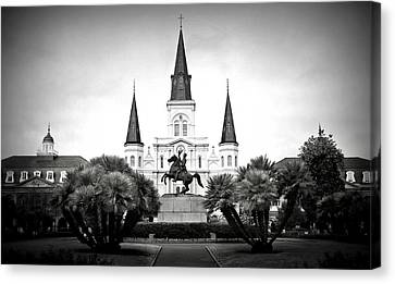 St.louis Cathedral Canvas Print - Jackson Square 2 by Perry Webster
