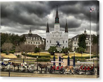 St.louis Cathedral Canvas Print - Jackson Square New Orleans by Don Lovett