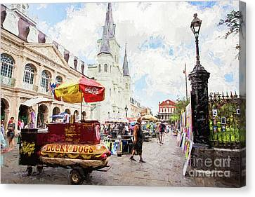 Jackson Square - New Orleans Canvas Print by Scott Pellegrin