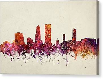 Skyline Canvas Print - Jacksonville Cityscape 09 by Aged Pixel