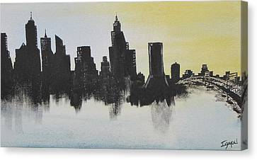 Canvas Print featuring the painting Jacksonville Florida by Gary Smith