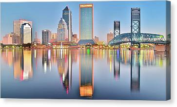 Jacksonville Reflecting Canvas Print by Frozen in Time Fine Art Photography