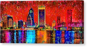 Jacksonville Skyline 103 - Da Canvas Print by Leonardo Digenio