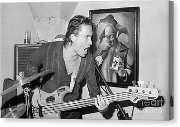 Jaco Pastorius Jam With The Joker Canvas Print by Philippe Taka